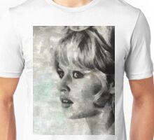 Brigitte Bardot Hollywood Icon by Mary Bassett Unisex T-Shirt