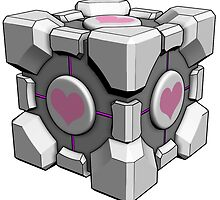 Companion Cube - Portal by Grinalass