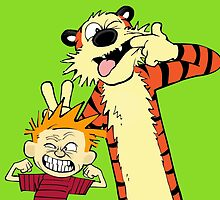 calvin and hobbes by goneficri