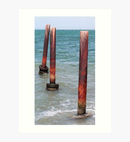 Three Poles - Kingscote Jetty Art Print