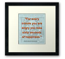 For Every Minute You Are Angry - RW Emerson Framed Print