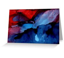 The Light Beckons - Abstract Landscape Painting Greeting Card