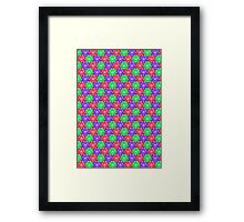 d20 Pattern Framed Print