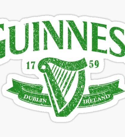 Guiness green Sticker