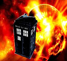 tardis in the sun dr who by sukukaro