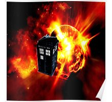 tardis in the sun dr who Poster