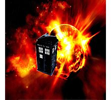 tardis in the sun dr who Photographic Print