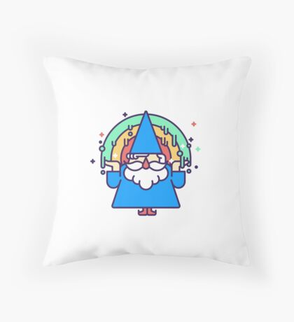 Rainbow Wizzard Throw Pillow