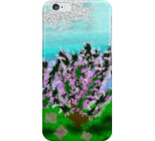Digital Finger Painting: Trees in Blossom iPhone Case/Skin