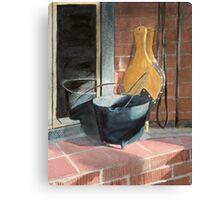 Sunlit Fireplace Canvas Print