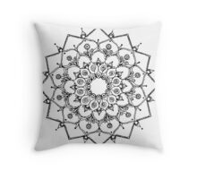 Mandala - Black Line (1) Throw Pillow