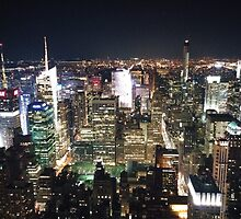 New York Neon Skyline by simonprout