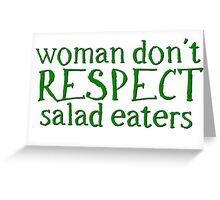 Vegetarian Vege Woman Funny Greeting Card