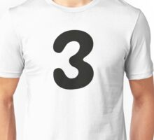 Comic Number 3 Three Unisex T-Shirt