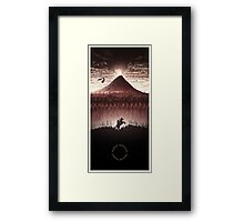 Lord of the Rings - The Ring Design Red Framed Print