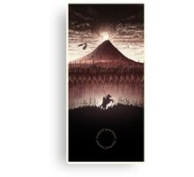 Lord of the Rings - The Ring Design Red Canvas Print