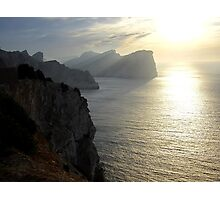 Cliffs in the sunset Photographic Print