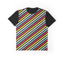 80s retro colour lines stripe pattern Graphic T-Shirt