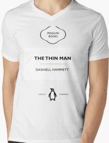 The Thin Man Book Cover tee Mens V-Neck T-Shirt