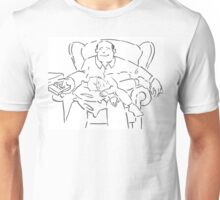 Dad and Lad - Cartoon of a father and young son Unisex T-Shirt