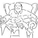Dad and Lad - Cartoon of a father and young son by MikeJory