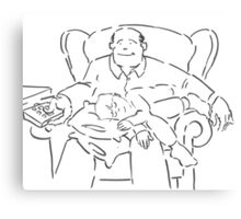 Dad and Lad - Cartoon of a father and young son Canvas Print