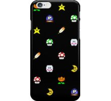 Super Mario World Item pixel pattern black iPhone Case/Skin