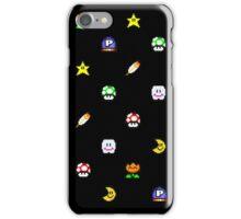 Super Mario World Item pixel pattern black iPhone Case/Skin