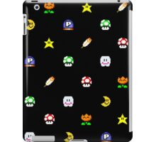 Super Mario World Item pixel pattern black iPad Case/Skin