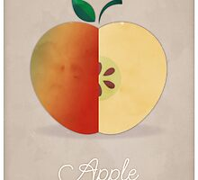 Apple (taupe) - Natural History Fruits by RedHillPrints