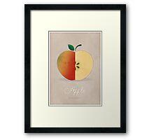 Apple (taupe) - Natural History Fruits Framed Print
