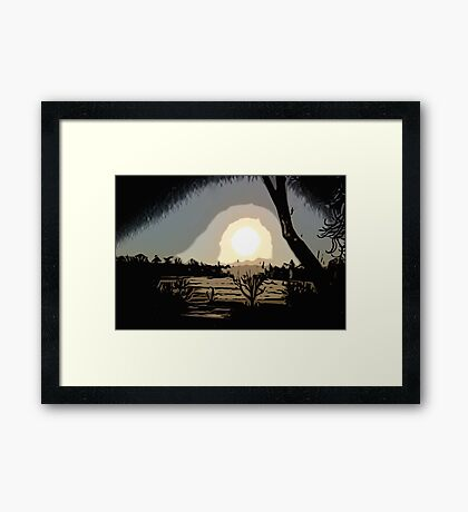 Sunrise over the Plain Framed Print