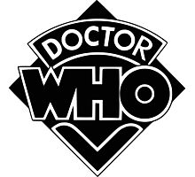 Doctor Who logo 1973-1980 Photographic Print