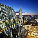 View from Stephansdom - Vienna by Hercules Milas