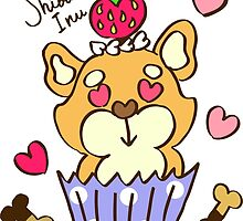 Shiba-Inu Cupcake by tomo-tomo