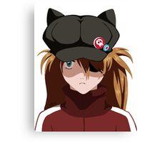 Asuka Black Hat Evangelion Q Canvas Print