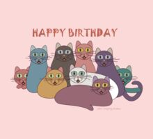 HAPPY BIRTHDAY by NINE CATS  One Piece - Short Sleeve