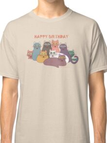 HAPPY BIRTHDAY by NINE CATS  Classic T-Shirt