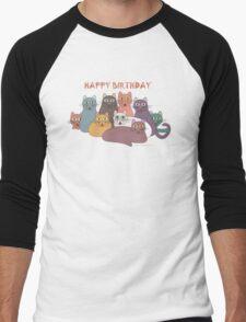 HAPPY BIRTHDAY by NINE CATS  Men's Baseball ¾ T-Shirt