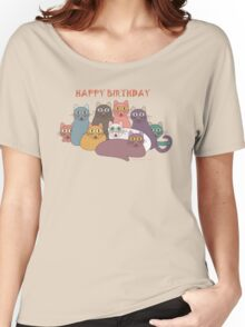 HAPPY BIRTHDAY by NINE CATS  Women's Relaxed Fit T-Shirt