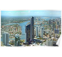 Q1 View of Surfers Paradise Poster