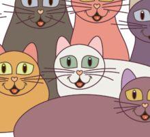 NINE CATS WITH NINE LIVES = ? Sticker