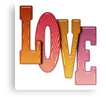 Love Word Pile of Coloured Wooden Letters Canvas Print