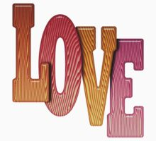 Love Word Pile of Coloured Wooden Letters Baby Tee