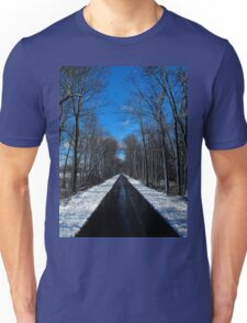 Something blowing in my head..Winds of ice that soon will spread..Down to freeze my very soul..Makes me happy, makes me cold..The snowflakes glisten on the trees..Snowblind T-Shirt