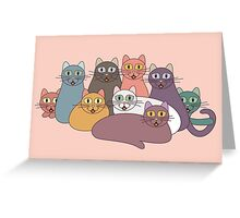 NINE CATS WITH NINE LIVES = ? Greeting Card