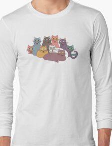 NINE CATS WITH NINE LIVES = ? Long Sleeve T-Shirt