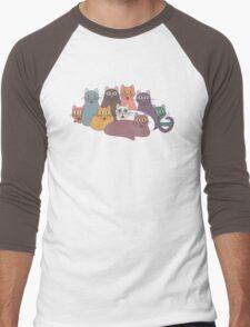 NINE CATS WITH NINE LIVES = ? Men's Baseball ¾ T-Shirt