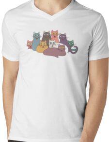 NINE CATS WITH NINE LIVES = ? Mens V-Neck T-Shirt
