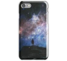 Wanderer through space and time. iPhone Case/Skin